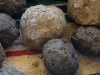 Pulp balls prepared for making paper